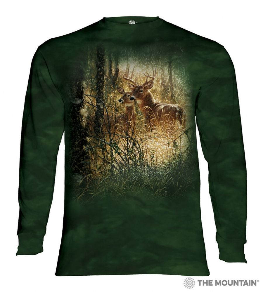 Golden Moment Deer Long Sleeve T-shirt - The Mountain®